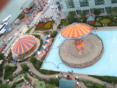 view from the ferris wheel on navy pier